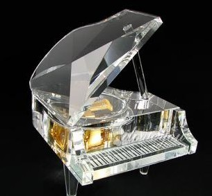 crystal grand piano white color music box music gift christmas gifts new year gifts. Black Bedroom Furniture Sets. Home Design Ideas